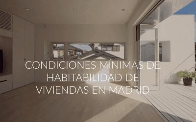 Condiciones mínimas de habitabilidad en viviendas en Madrid